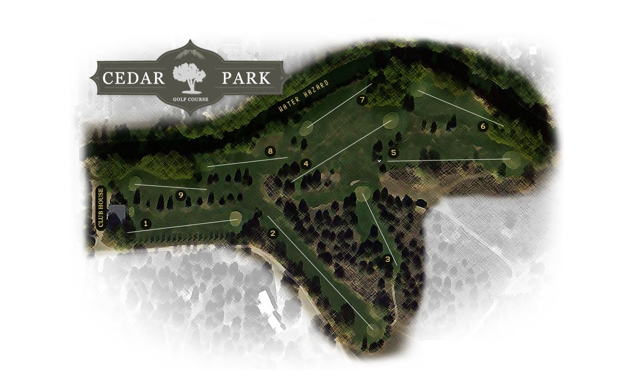 Cedar Park Golf Course Map