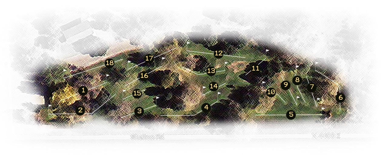 Cedar Park Putting Course Map
